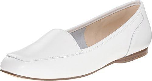 Bandolino Women's Liberty Flat, White Leather