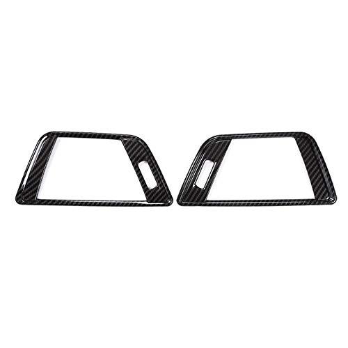 Cikuso 2 Pezzi di Fibra di Carbonio per Serie BMW 4 F30 320 di 316 GT 328 ABS Anteriore Interno Sid Aria Condizionata Regolazione della Ventilazione Accessori Auto