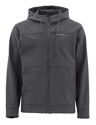 Simms Rogue Fleece Hoody, Water Resistant Sweatshirt, Raven, XX-Large