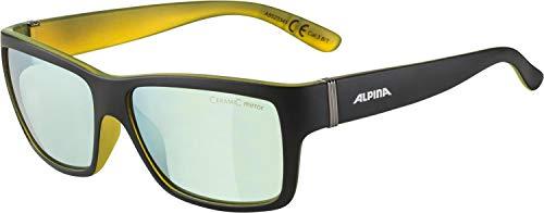ALPINA Unisex - Erwachsene, KACEY CMGO Sonnenbrille, black matt-neon yellow, One size