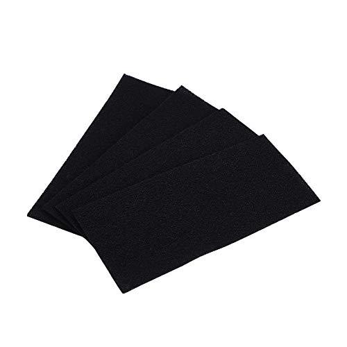 Tangxi 4 Piezas de filtros de Esponja de Carbono, Accesorios de purificador de Aire de Repuesto Esponja de Aerosol de Carbono, prefiltro de Carbono de reemplazo del purificador de Aire