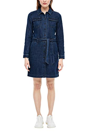 s.Oliver Damen 120.10.002.26.200.2027863 Kleid, Dark Blue, 42
