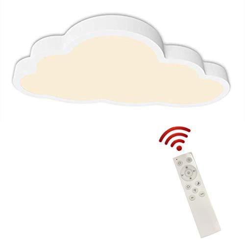 Plafón luz de techo LED Regulable con control remoto, ultrafino 5 cm de espesor, de diseño creativo de Nubes lámpara de techo para niños, lámpara de habitación, de dormitorio de salón, blanco