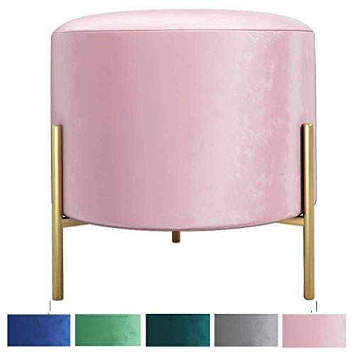 Round Foot Stools Home Shoe Changing Stools Dressing Stools Clothing Ottoman Sofa Stool For Living Room Bedroom Office B