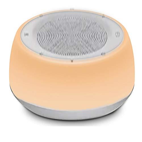 JIABAN Máquina de ruido blanco para adultos, máquina de sonido automática para dormir con luz nocturna ajustable, adecuada para el hogar, oficina, terapia de sueño de viaje