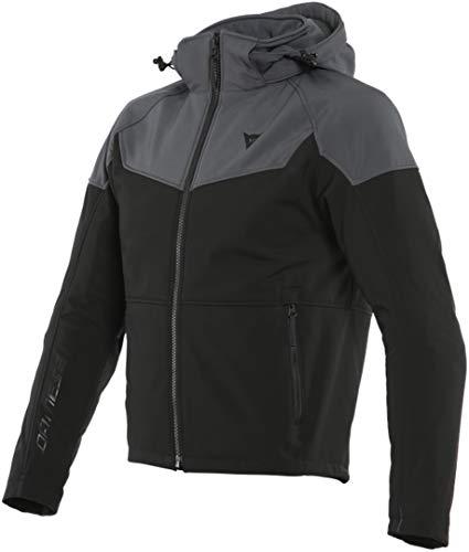 Dainese Ignite Tex - Chaqueta textil para moto, color negro/gris, 56