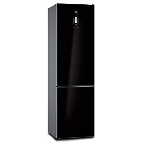 Balay, 3KFE768BI - Frigorífico combi No-Frost, Acabado en cristal, Altura 203 cm, 279 litros, Color Negro