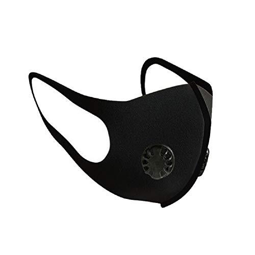 Hereubuy Máscara de boca de doble válvula PM2.5