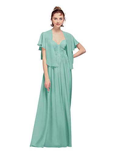 AW Bridal - Chales de gasa para mujer, para vestidos de noche, gasa, capas de boda, suaves Azul Purist Azul 90
