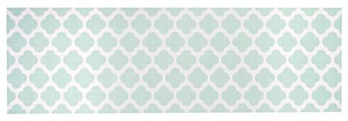 Küchenläufer Küchenteppich Küchen Matten Flur Läufer Teppich Deko waschbar robust modern Größe 140x45 cm 12 verschiedene Motive-Design und Farben (Flair - Mintgrün)