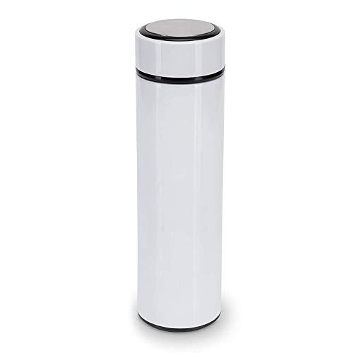 rethyrel Termo de acero inoxidable aislado al vacío con filtro de hojas de té – 500 ml de filtro de botella aislado al vacío de acero inoxidable para la vida diaria