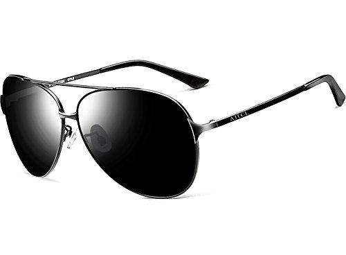 ATTCL® Klassische Piloten Polarisierten Sonnenbrillen Herren Angeln Außen 8009 Black