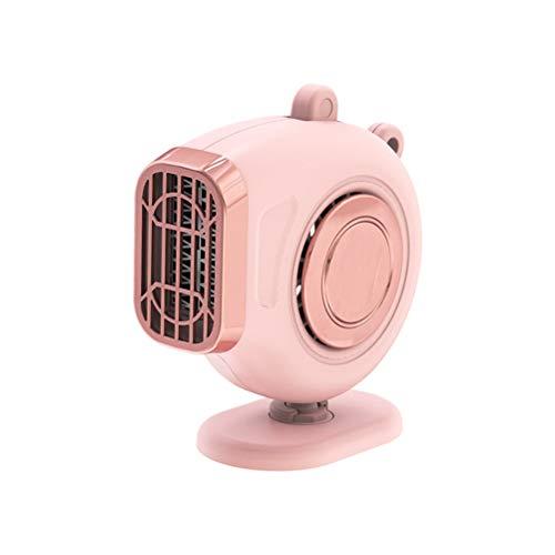 APROTII pink Car Heater 150W Defrosting Fan 360° Rotating Heating Car Warmer Window Mist Remover Van Heater