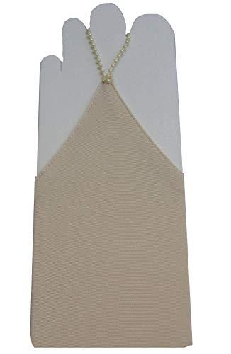YES Fingerlose Brauthandschuhe Handschuhe Hochzeit, A1 45cm, Cappuccino