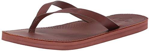 Roxy Women's Brinn Leather Sandal, Chocolate, 9