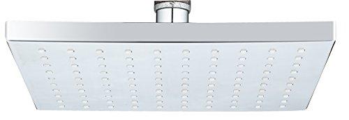 DP Grifería - Alcachofa fija (placa fija, rociador) de ducha cuadrada (ABS)