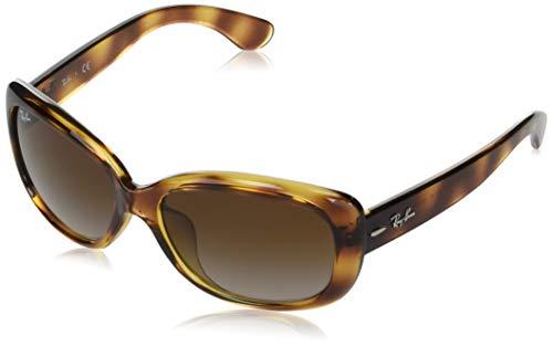 Ray-Ban Gafas de sol rectangulares para mujer Rb4101f Jackie Ohh ajuste asiático