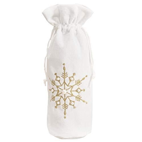 ABOOFAN Botella de vino de Navidad cubierta de botellas de vino bolsas de botella de vino suéter botella vestido vino bolsa de regalo para Navidad cena fiesta decoración mesa