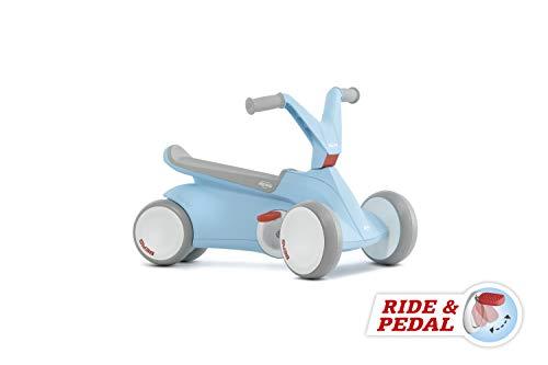 Berg GO² 2in1 Rutschauto | Rutscher und Laufrad, Kinderrutscher, Kinderauto mit Ausklappbare Pedale, Pedal-Gokart, Kinderspielzeug geeignet für Kinder im Alter von 10-30 Monaten (Blau)