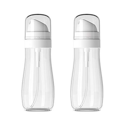 Plastic Empty Spray Bottles with Fine Mist Sprayer,3.4oz/100ml Refillable Portable Travel Bottle,Liquid Sprayer,Chemical Resistance (2 Pack)
