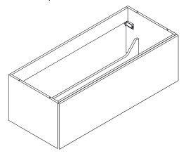 Lanzet K5 dubbele wastafelonderkast 120, wit - grafiet