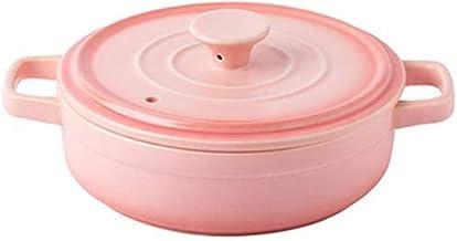 Praktisch Casserole gerechten braadpan gerechten pot keramiek braadpan, ronde braadpan schotel met deksel, steengoed klein...