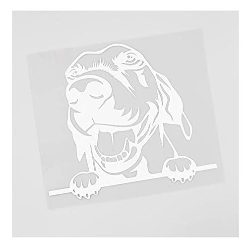 MDGCYDR Adesivo per Auto Cane 15.2Cmx13.3Cm Peeking Dog Beagle Cucciolo Hound Decal Vinyl Car Sticker Nero/Argento