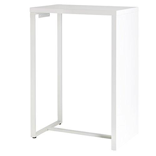 13Casa - Coff A1 - Tavolo bar. Dim: 75x50x110 h cm. Col: Bianco. Mat: Metallo, MDF.