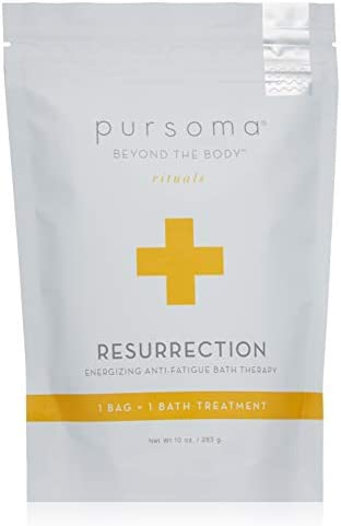 Pursoma Resurrection Energizing Anti Fatigue Bath Therapy with French Grey Sea Salt Brown and product image