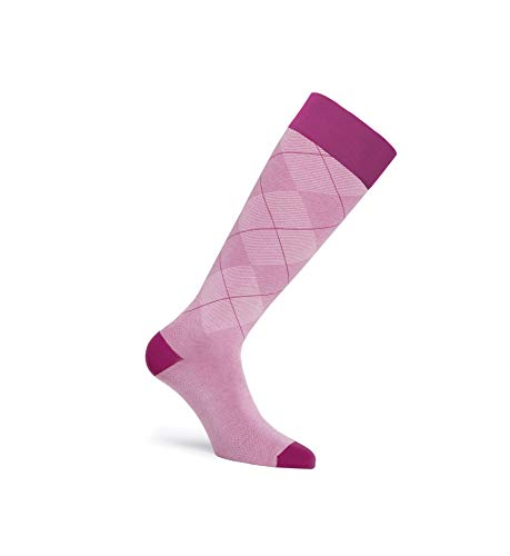 Jobst Socken mit lässigem Muster, 15–20 mmHg, Preppy Pink, Größe XL, Reg 7337645