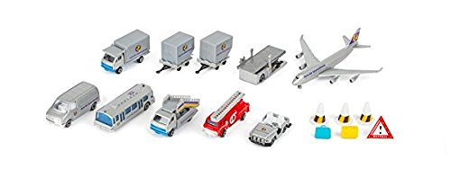 Small Foot - 8594 - Lot de 18 Voitures Miniatures - Aéroport