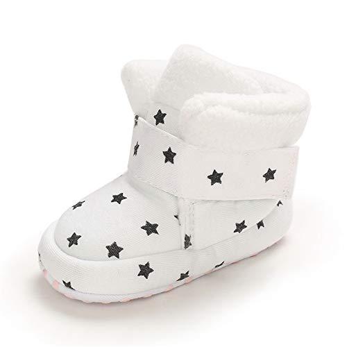 MASOCIO Baby Winterschuhe Junge Mädchen Babyschuhe Winter Baby Boots Winterstiefel Schuhe Stiefel Weiß Größe 18 0-6 Monate