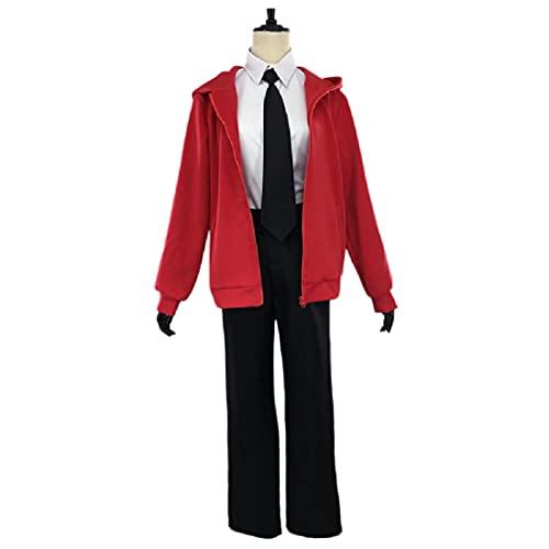 YYFS Disfraces de Anime Cosplay, Anime, Juegos, Manga Cosplay Uniformes, Halloween, Uniformes de Fiesta de Disfraces, Chaqueta Roja y Pantalones Negros, Versión para Hombres,Men's Suits -X-Large