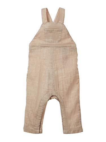 NAME IT Baby Jungen Latzhose NBMdavid Sommer-Overall Hellbraun meliert, Größe:62, Farbe:Atmosphere