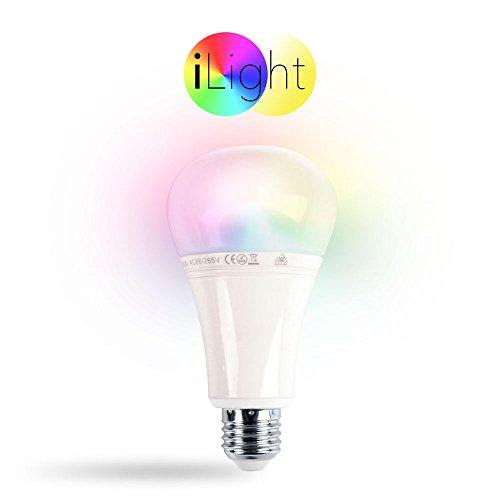 s.LUCE iLight E27 LED-Leuchtmittel 12W RGB+CCT LED-Lampe Farbwechsel & Dual White Funk Funksteuerung Dimmbar Farbsteuerung