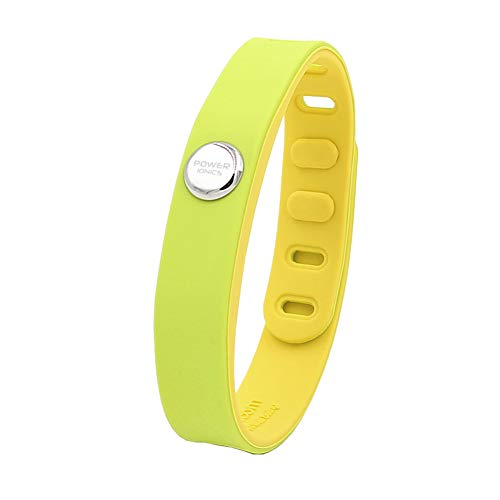 Power Ionics Pulseras de energía para hombre, turmalina, titanio, germanio, para mujer, pulsera deportiva de FIR, banda IDEA, 3000ions/cc, multicolor (verde macarón)