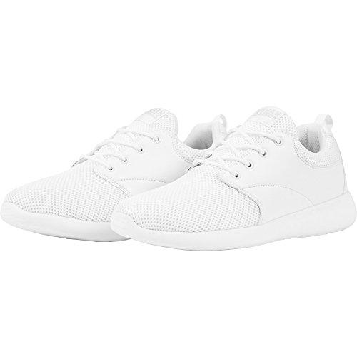 Urban Classics Damen und Herren Light Runner Shoe, Low-Top Sneaker für Damen und Herren, Sportschuhe mit Schnürung, Weiß, Größe 43