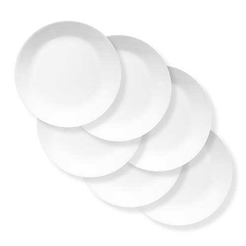 "Corelle Chip Resistant Extra Large 11"" Dinner Plate 6-piece set, Winter Frost White"