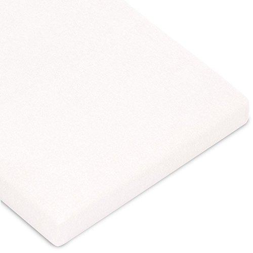 CelinaTex Casca Topper hoeslaken 180x200-200x220 cm sneeuw wit katoen spanbeddoek elastaan laken