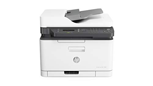HP Color Laser MFP 179fnw - Impresora láser multifunción (Imprime, Copia y escanea, 18/4 ppm, LED, USB, FAX, WiFi),...