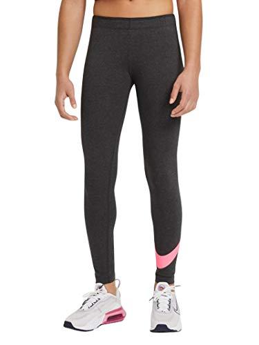 Nike Mädchen Sportswear Favorites Leggings, Black Heather/Sunset Pulse, M