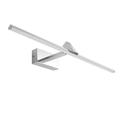 MantoLite LED Wandleuchte Bild Licht,Einstellbar Modern Badezimmer Lampe Nachttisch Leseleuchte Spiegel Leuchte Artwork Beleuchtung Fixture Für Wohnzimmer Flurtreppen, 12W 4000K 60CM Chrome Finish