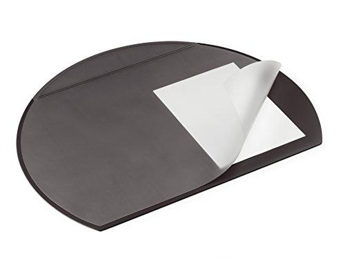 Durable 729001 Podkład na biurko (półokrągły z przezroczystą nakładką), kolor czarny.