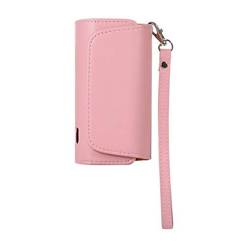 DrafTor E Zigarette Tasche, Mikrofaser PU Leder Zigarettenetui für I-Q-O-S 3.0 mit mit Magnetische Abdeckung und Lanyard (nur Geldbörse)(Pink)