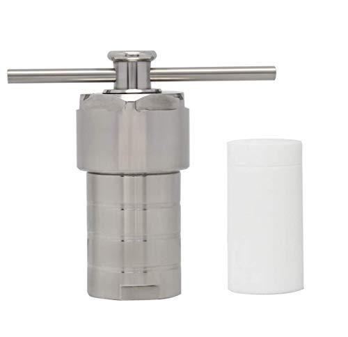PLEASUR 25 ml Hydrothermalsynthese-Autoklavenreaktor 200 ℃ 6 MPa 304 Edelstahl Hochdruck mit PTFE-Auskleidung Teflongefäß Säure- und Alkalibeständigkeit
