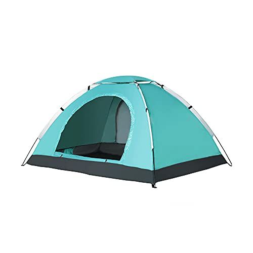 JZJZ Tienda de playa, gran sombra de playa, refugio para 3 – 4 personas, resistente al viento, a prueba de lluvia instantánea, portátil, toldo de campaña, para acampar al aire libre, (seis colores)
