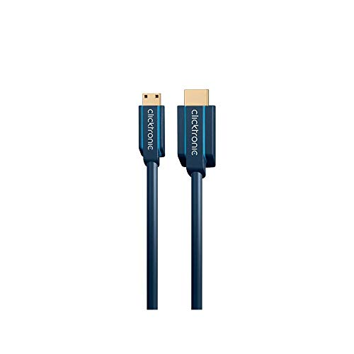 Clicktronic Casual Mini-HDMI-Adapterkabel mit Ethernet, 4K Ultra HD, 3D-TV, ARC, 5m