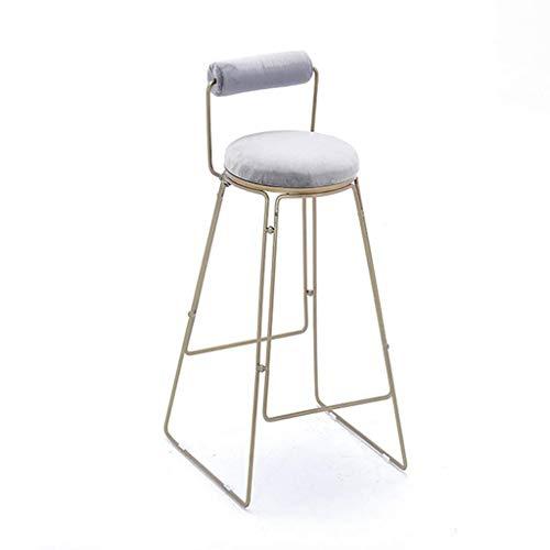 QJY Barstuhl Moderner Stil Zähler Stuhl Küche Frühstück Bar Stuhl Metallfuß Sitz (Color : B, Size : 75cm)