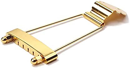 Alnicov 6 String Guitar Trapeze Tailpiece Bridge for Jazz Archtop Guitar Replacement - Gold