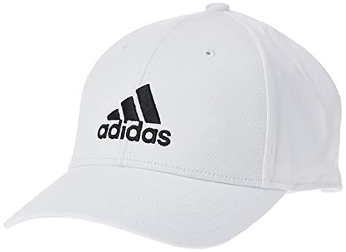 adidas Baseball Cotton Twill Kappe, White/White/Black, OSFM